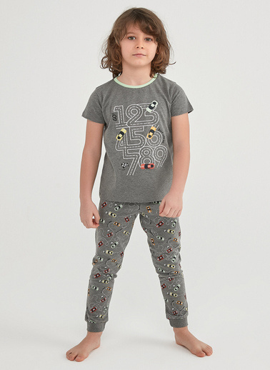 Penti Çok Renkli Erkek Çocuk Number Race  2Li Pijama Takımı Renkli